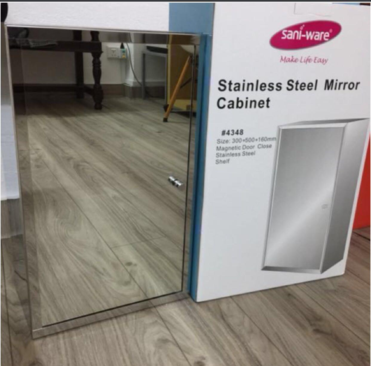 Last 1.NEW CLEARANCE!!!!Stainless 304 steel mirror cabinet