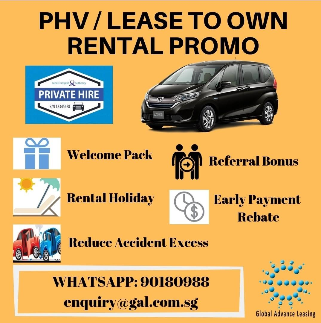 New Toyota Noah Rental/PHV/Long Term