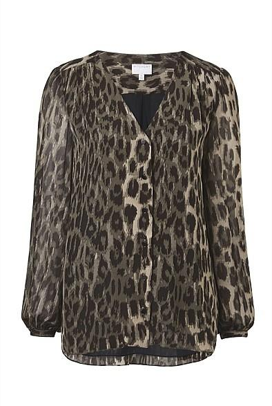 New Witchery Jungle print Blouse, size 8, RRP$129.95