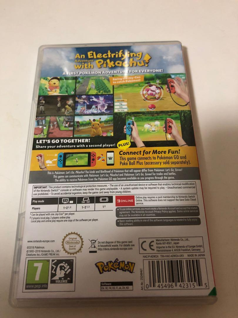Nintendo Switch Pokemon - Let's go Pikachu