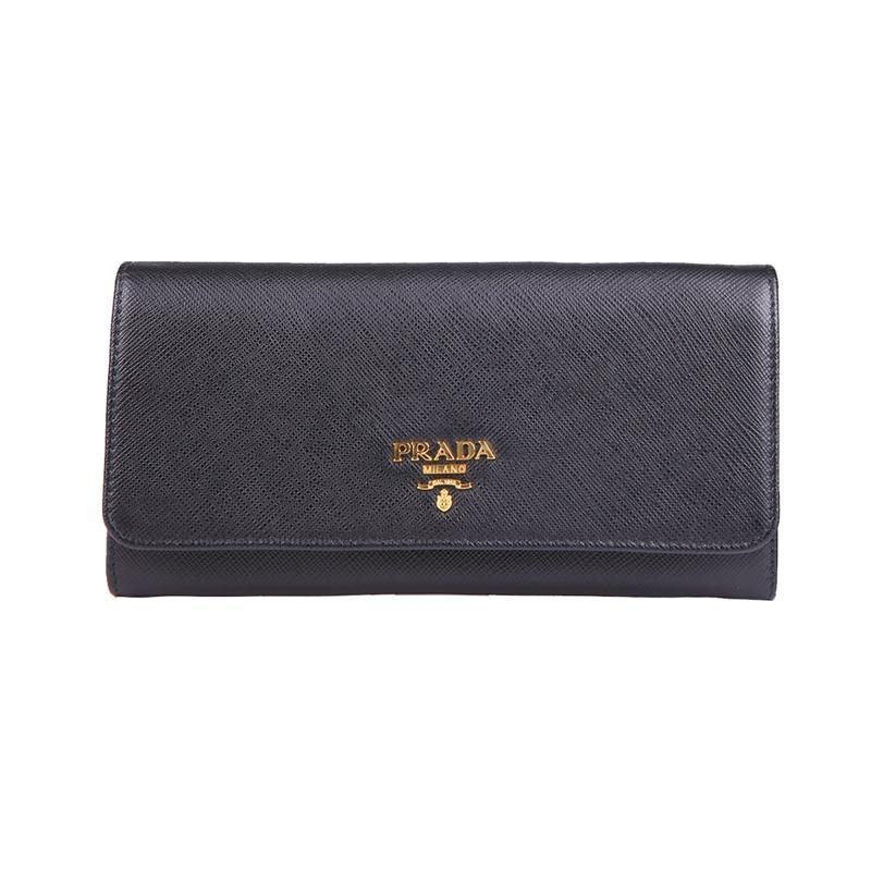Prada/Prada new ladies flip long hand wallet 1MH132 QWA
