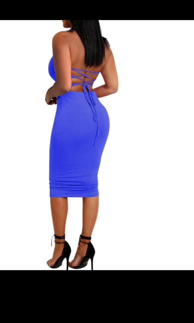PREORDER 2 piece Set Bodycon Tie Back