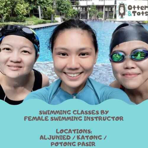Private swimming classes for kids and adults by Female Swim Coach/ Female Swimming Instructor