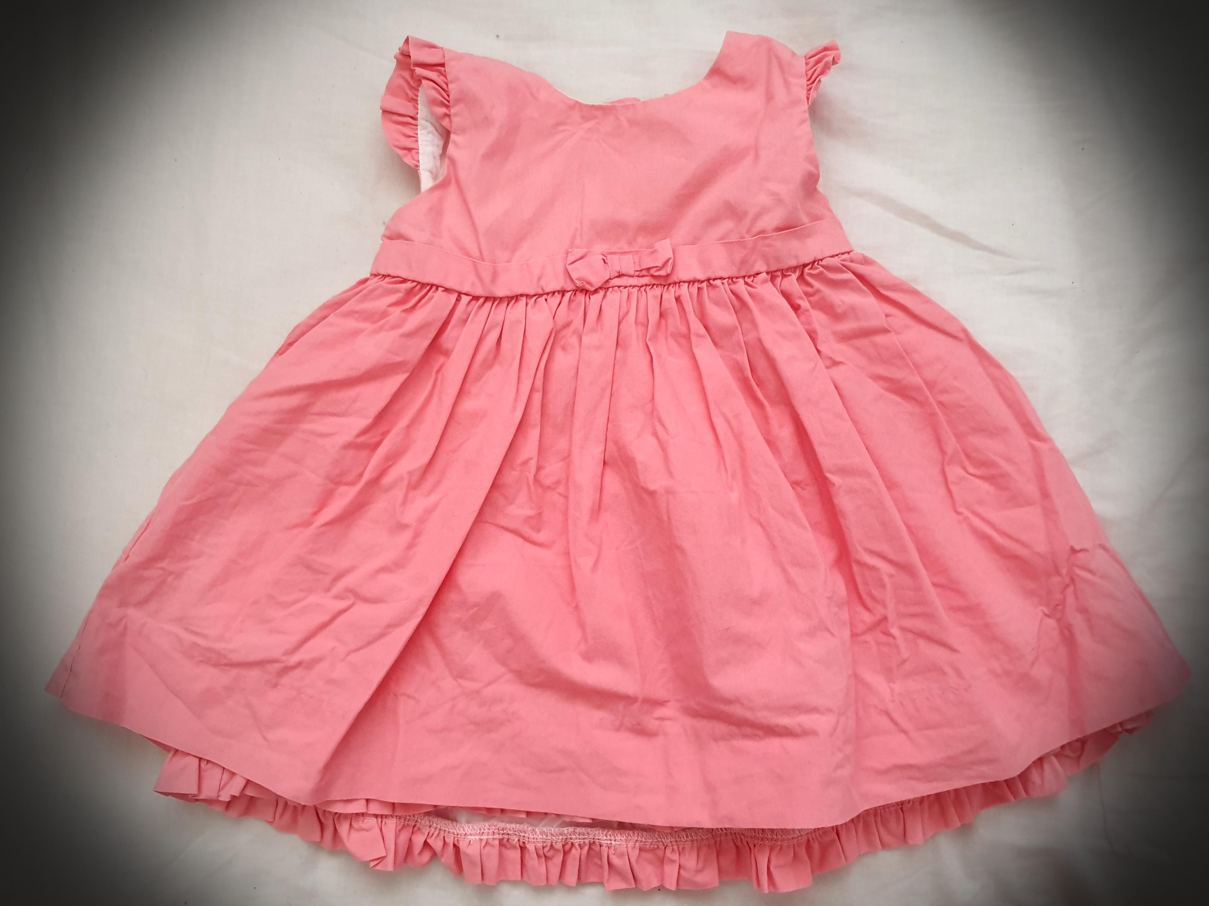 RALPH LAUREN baby girl peplum skirted ROMPER 9//12M pink BNWT