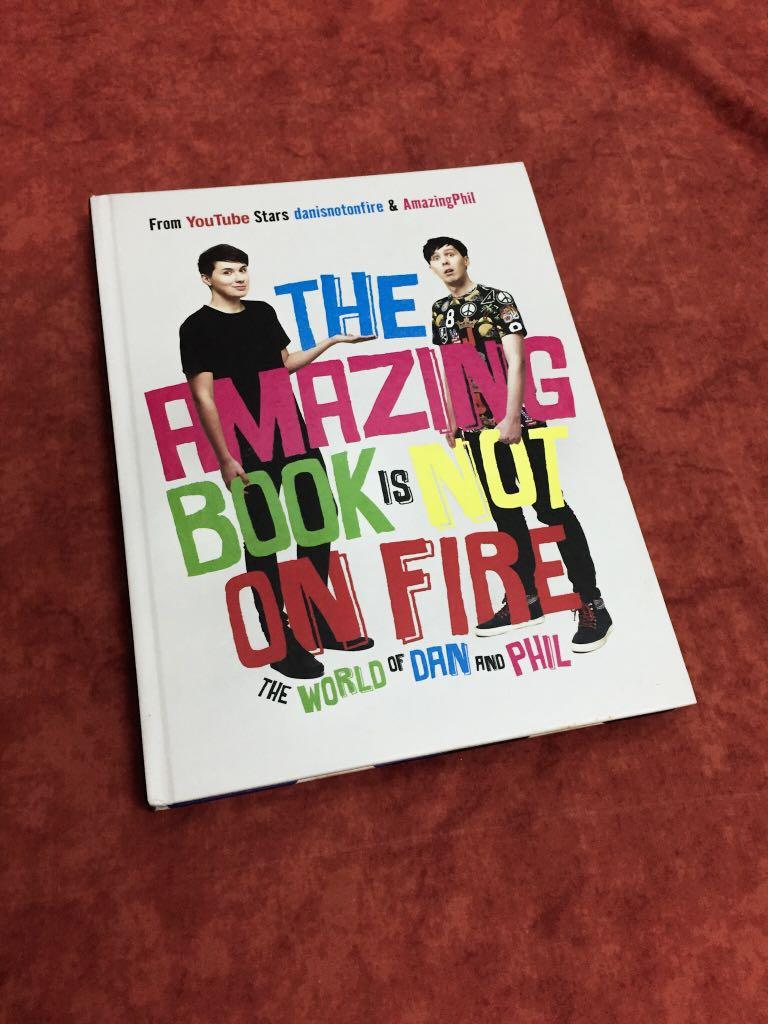 (FREE SHIPPING) The Amazing Book Is Not On Fire (TABINOF) - Dan Howell & Phil Lester