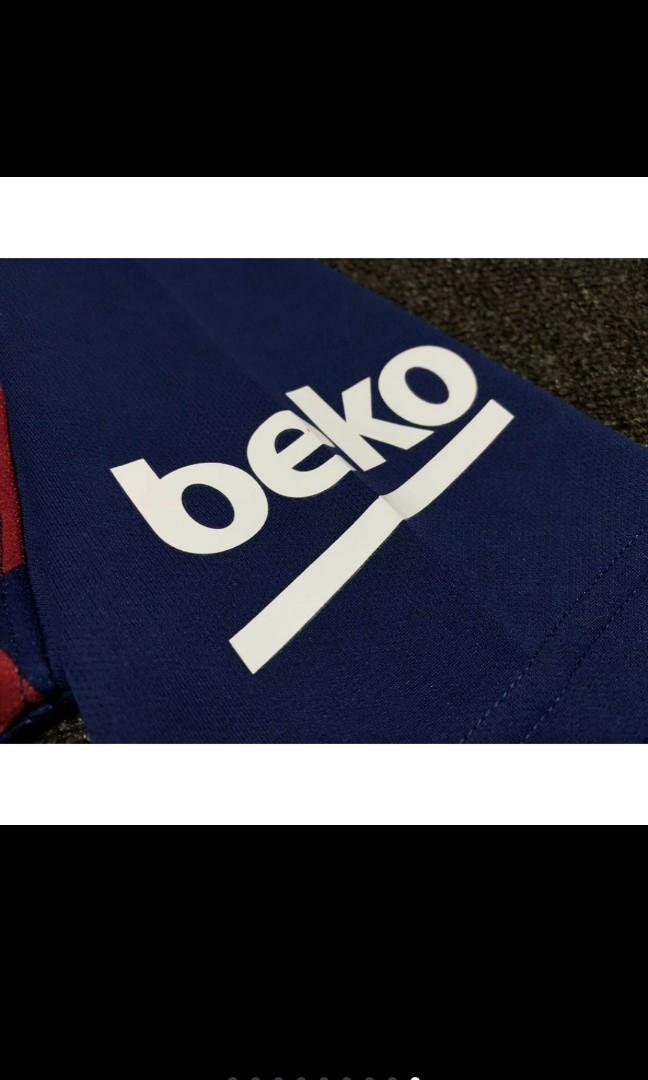 Top Quality Barcelona Home Football Jersey Men T-shirt Set Kids Kits Thailand Version 19/20
