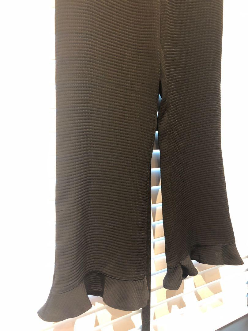 Topshop Textured Trousers with Frills