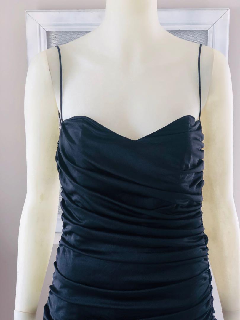 Vintage 80's Black gathered dress with Big Bow