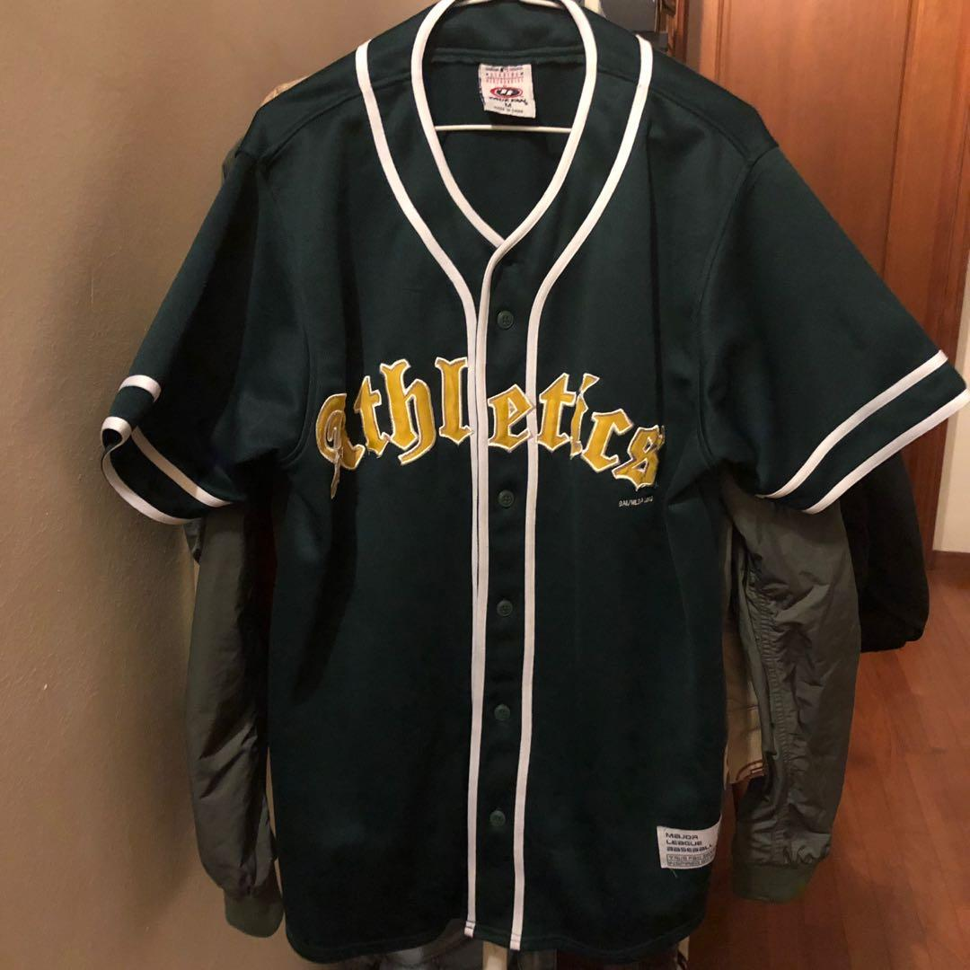 new styles f9a44 fc3f5 Vintage Oakland Athletics MLB Green Home Jersey, Men's ...