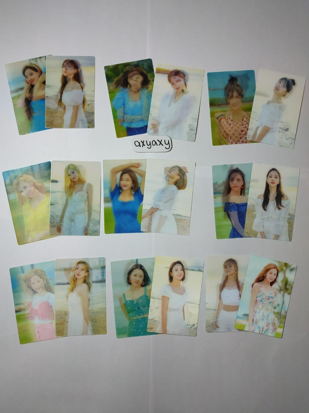 [WTS] TWICE TWAII POP UP STORE: Lenticular Photocard Member Set