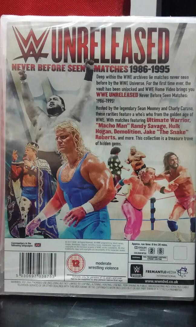 WWE Unreleased Matches - DVD