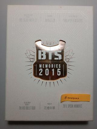 BTS - Memories of 2015 DVD (WTS)