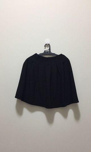 黑色高腰彈性短裙