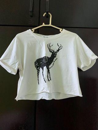 Deer crop top