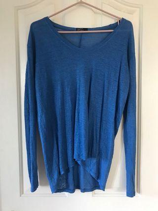 Blue linen shirt oversized gap