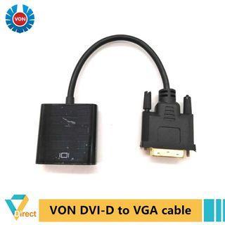Von Ventus DVI 24+1 male to VGA female adapter - conversion converter 24 1 DVI- D D with chipset