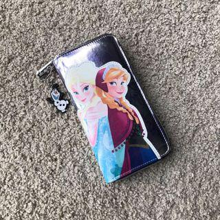 Ready stock: Original Disney Frozen Long synthentic Leather wallet