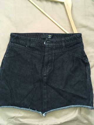 BLACK jeans mini skirt #jan50