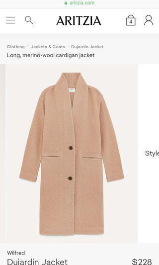 Aritzia Dujardin coat