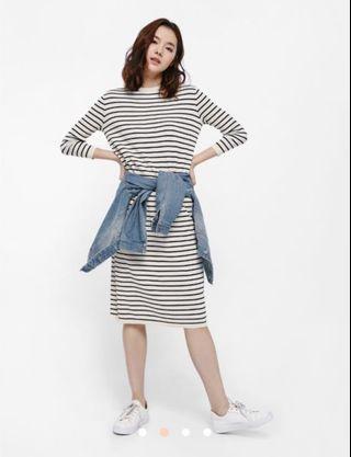 🚚 LB Dyliki Striped Mid T-shirt Dress