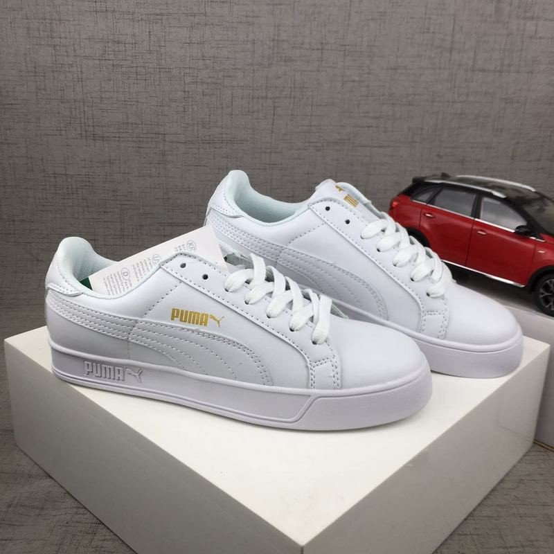 more photos 78fec a4825 100% Original Puma SmashVulc Sneaker Shoes/Creeper Sneakers(All white gold)