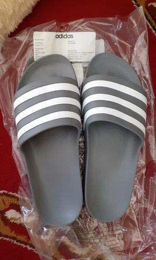 Sandal Adidas Adilette Aqua Sandal Olahraga Unisex -Grey Three F17 Ftwr  White