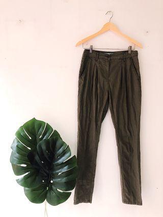 Dark Olive Khaki Pants