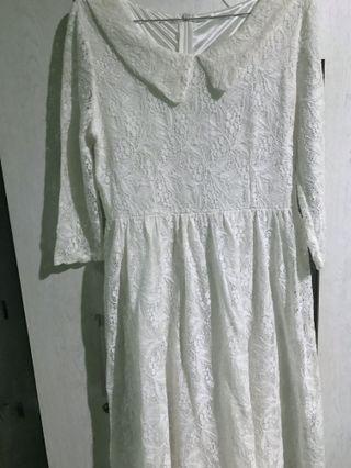 Longdress lace putih #openbarter