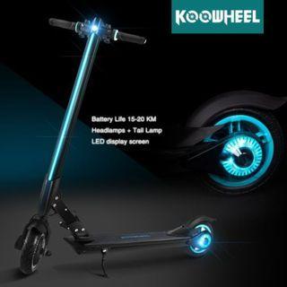 UL2272 Certified Koowheel E1 e scooter LTA COMPLIANT