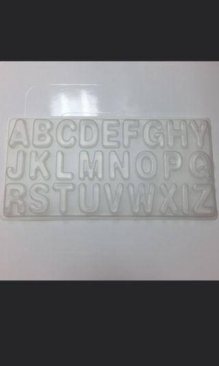24 Alphabet Plastic Mold