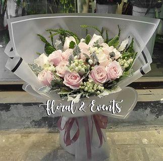 Sweet Pink Rose Bouquet