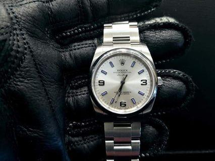 PREOWNED RO LEX Air-King, 114200, Oystersteel, 34mm, Alphanumeric Series @ Year 2012 Unisex Watch