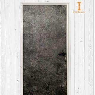 Grey Pacific Wooden Solid Laminate Bedroom Door