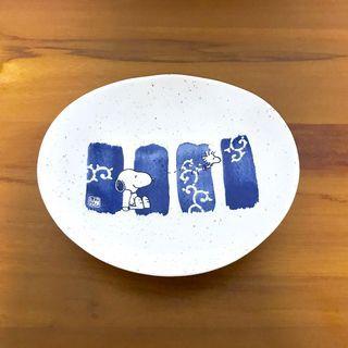 日本帶回 SNOOPY筆唐草和食器 小盤子 小碟▸日本製、可微波