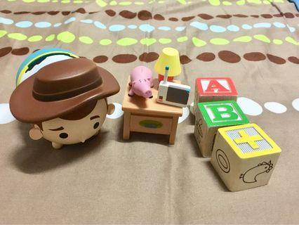 (收藏)絕版玩具總動員場景 安迪書桌火腿豬
