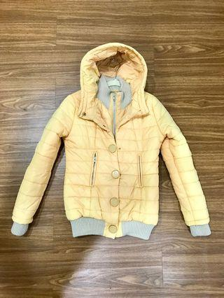 Pastel Peach Gradient Winter Jacket