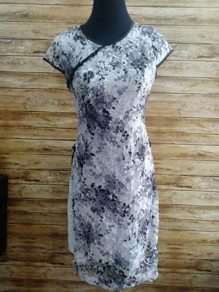 Preloved Chinese collar dress