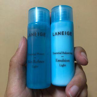 Laneige essential Balancing Emulsion & toner 25ml each