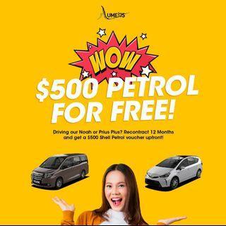 Brand New Toyota Prius Plus (MPV) - Car Rental for Private Hire/Grab use