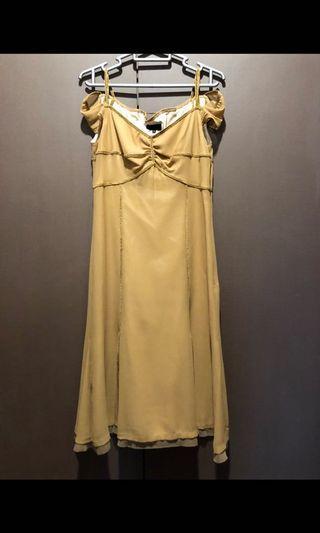 🚚 Gold dress 36