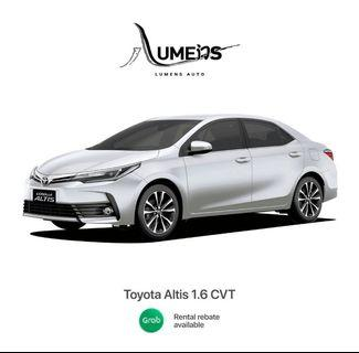 Toyota Altis CVT (2017) - Car Rental for Private Hire/Grab use