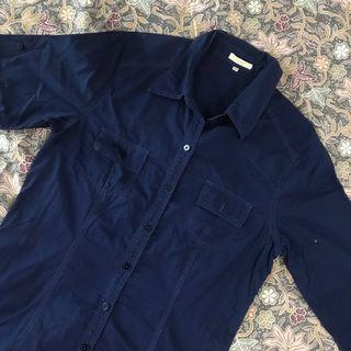 Navy Blue Button Up Shirt