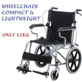 WHEELCHAIR – COMPACT, LIGHTWEIGHT AND  FOLDABLE, GOOD FOR TRAVEL