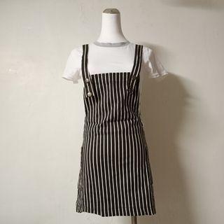 現貨✨條紋緊身吊帶裙