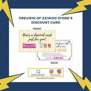 DISCOUNT CARD BY ZZIWOO STORE