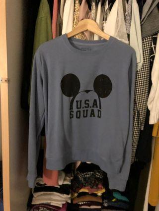 Disney cotton on mickey dusty blue sweater