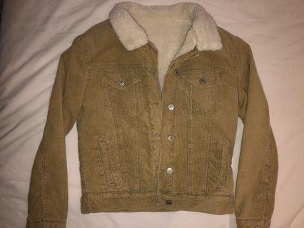 🚚 BNWOT Brandy Melville corduroy jacket fleece