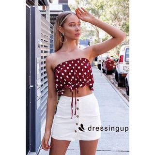 NEW Polkadot bandeau tube top