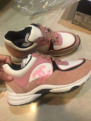小香風運動鞋老爺鞋chanel37號
