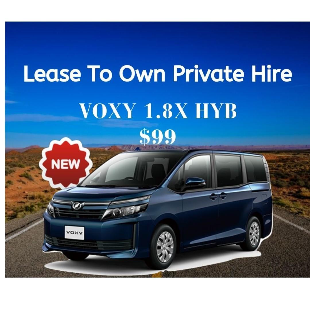 [ Brand New ] TOYOTA VOXY 1.8X HYBRID * Lease To Own *